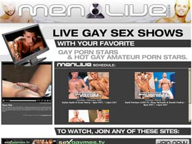 Welcome to Men Live - live gay sex shows!