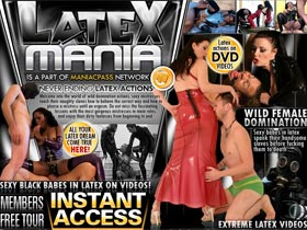 Latex Mania! Wild female domination! Latex actions on DVD videos! Sexy black babes in latex on videos!