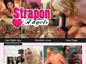 Welcome to Strapon Angels! Enjoy strapon porn videos! Hot lesbians fuck by strapon each other in orgy!