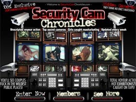 Welcome to Security Cam Chronicles! Unscripted voyeur action! Top secret cameras! Girls caught masturbating!